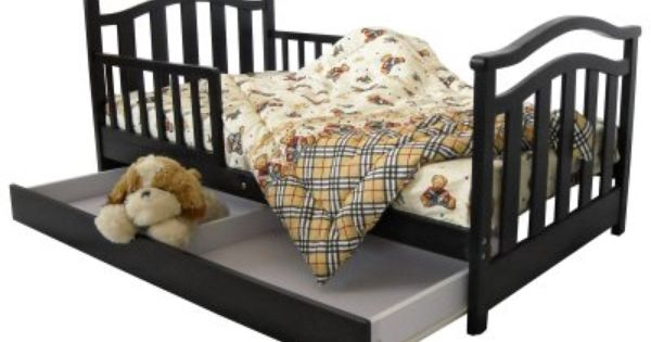 Even The Transition Time Between Crib And Regular Bed Can Be Stylish And Safe With The Dream On Me Elora Todd Toddler Bed With Storage Traditional Bed Kid Beds