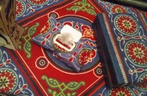 طريقه عمل كفر علبه مناديل بدون خياطه خالص طريقه عمل زينه رمضان من قماش الخيامية Youtube Ramadan Crafts Projects To Try Crafts