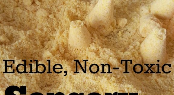 edible  toxic sensory kinetic sand recipe  kids kinetic sand searching  preschool