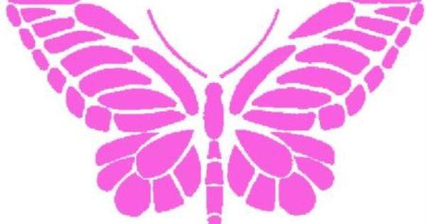 Pochoir papillon fin 13x 10 cm papillons et boutiques for Acheter pochoir mural
