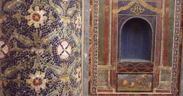 Marble Column Mosaics From Pompeii Pompeii Photo Mosaic Mosaic Art
