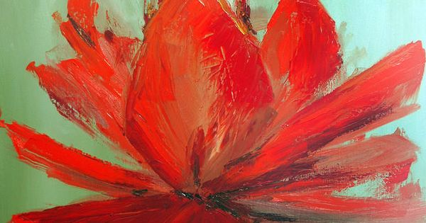 Large Single Flowers Single Flower Painting Projects