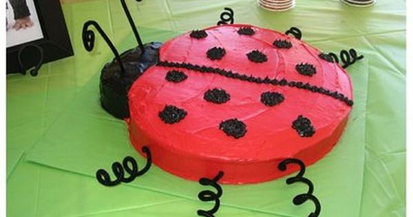 Ladybug Birthday Cakes Pinterest
