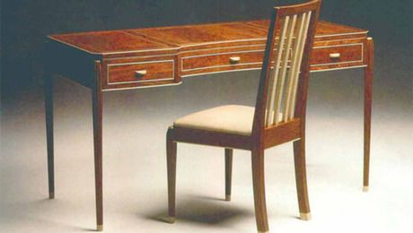 An Elegant Writing Desk Finewoodworking In 2020 Desk Woodworking Desk Plans Writing Desk