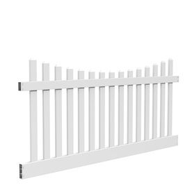 Barrette Elite Lennox Scallop 4 Ft X 8 Ft White Scalloped Picket Vinyl Fence Panel With Images Vinyl Fence Panels White Vinyl Fence Vinyl Fence