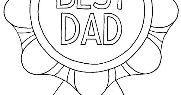 kleurplaat vaderdag oorkonde voor de beste papa