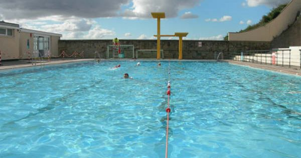Portishead open air pool water side by lidos org uk via - Open air swimming pool portishead ...