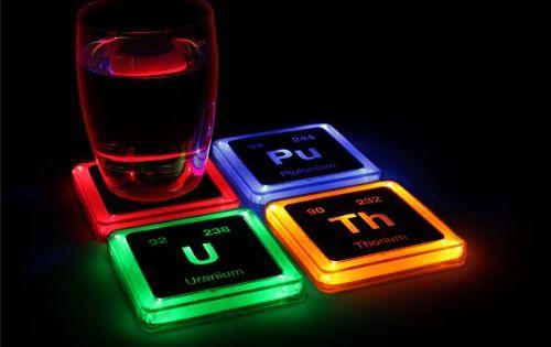 Radioactive Elements Glowing Coasters Led Coasters Light