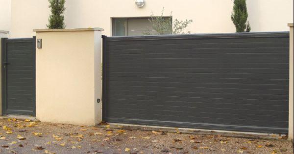 Portail coulissant home pinterest portail coulissant for Portail coulissante exterieur