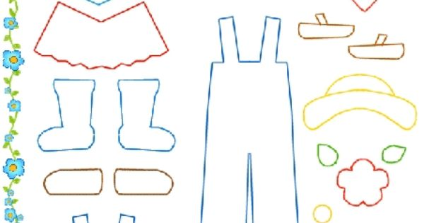 Felt board clothes template is a good idea because for Felt storyboard templates