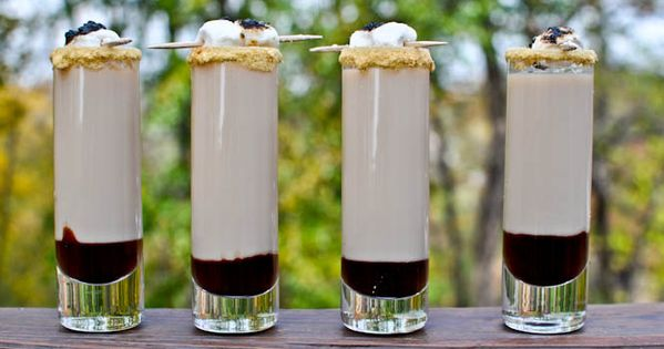 Smoretini Shooters Recipe - S'moretini Recipe 1/2 oz marshmallow vodka 1/2 oz