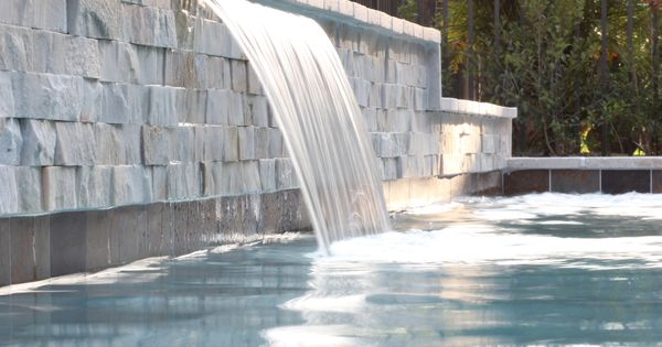 Raised Pool Wall With Sheer Descent Water Features Pinterest Raised Pools Walls And
