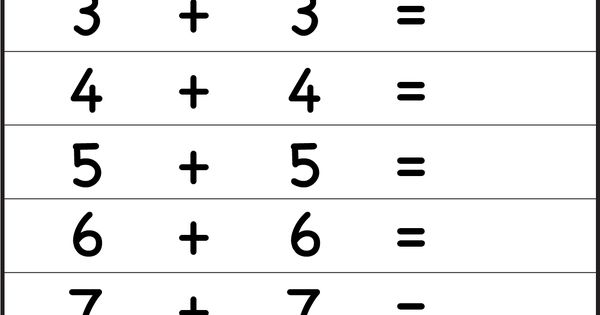 Adding Doubles Plus One Worksheets Addition Doubles