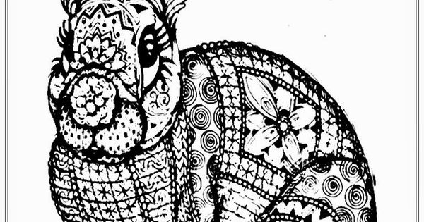 Free Adult Coloring Pages To Print Free Rabbit Coloring