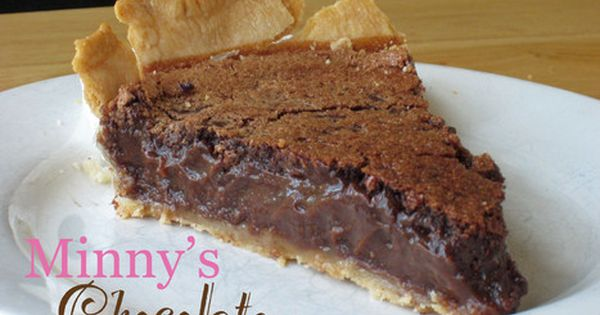 Minnie's Chocolate Pie recipe from 'The Help'. So rich and creamy!! Without