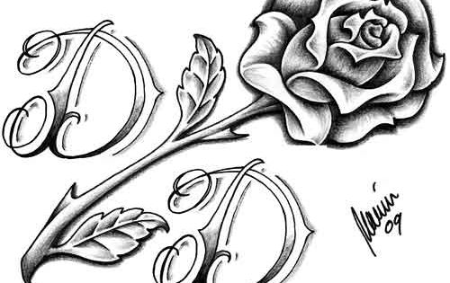Amazing rose with mom dad banner tattoo tattoes idea for Amazing drawings of roses