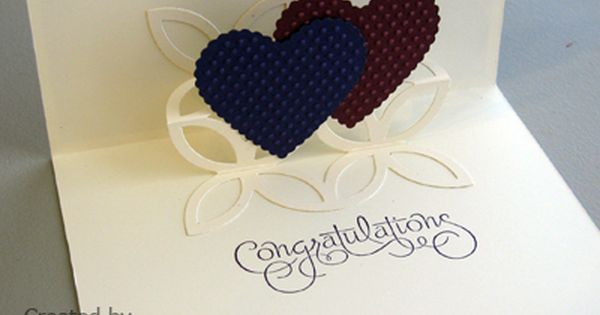 Pop Up Wedding Card Pinkstampagne Engagement Cards Wedding Card Diy Wedding Congratulations Card