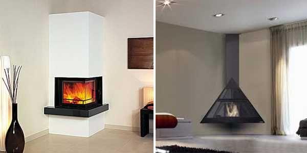 Corner Fireplaces Offering Unique Decorative Accents For Space