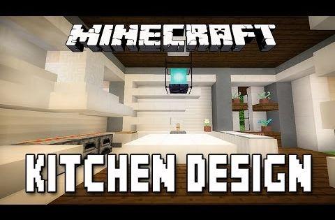minecraft tutorial: modern kitchen design (how to build a modern