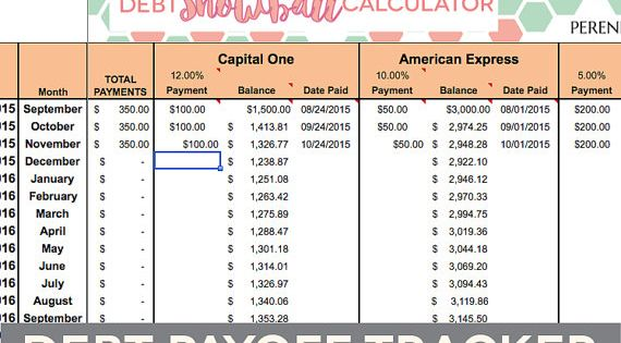 debt payoff spreadsheet