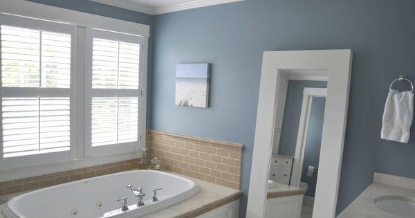 Master bathroom paint color jamestown blue color palettes pinterest entry ways search - Jamestown blue paint color ...