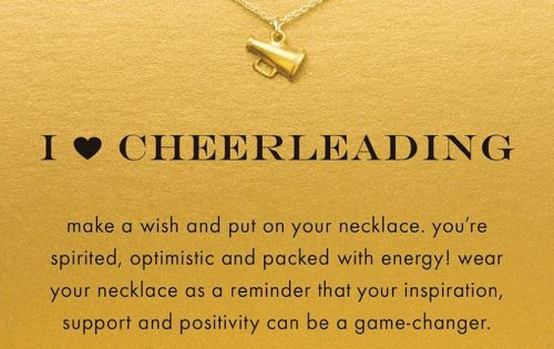 Cheer necklace on sale now cheerleader chain cheering necklace Cheer present