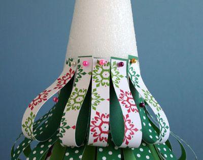paper christmas tree craft | paper christmas tree craft | Christmas Craft