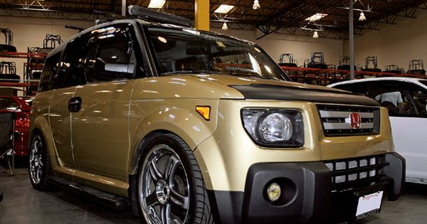 custom gold honda element cars that make the list pinterest honda element honda and cars. Black Bedroom Furniture Sets. Home Design Ideas