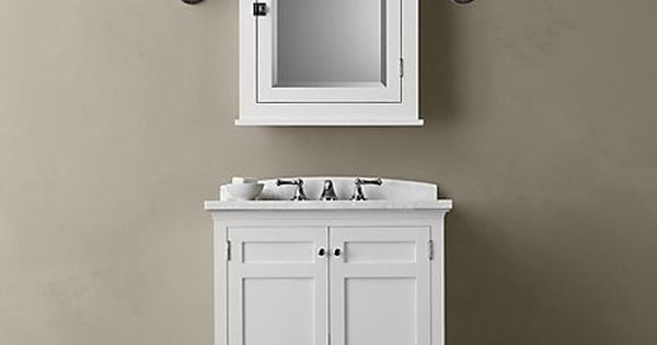 Restoration Hardware Small White Bathroom Vanity My New Family Room Pinterest Small White