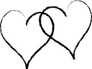 10+ Black line heart clipart info
