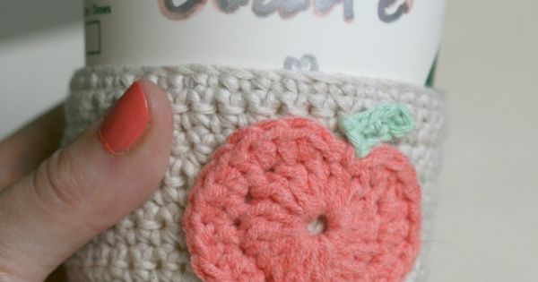 Crochet pumpkin, Coffee cup sleeves and Cup sleeve on Pinterest