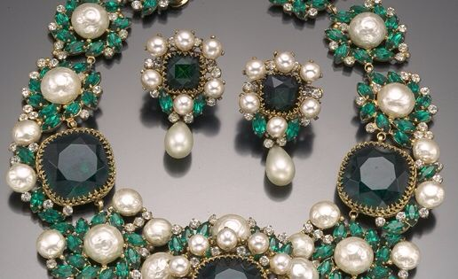 Vintage Costume Jewelry Love Balenciaga Emerald Green