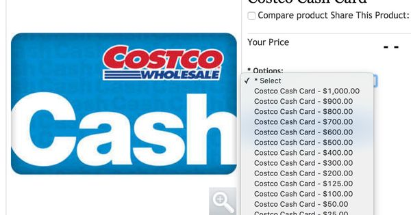 How To Add Money To Costco Cash Card