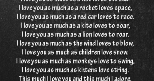 I Love You Quotes Pinterest: A Bedtime Poem For Parents