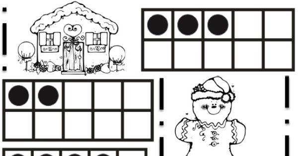 gingerbread ten frames   preschool - december   Pinterest ...