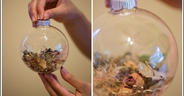 Wedding Bouquet ornament for when my dried bouquet is on its last