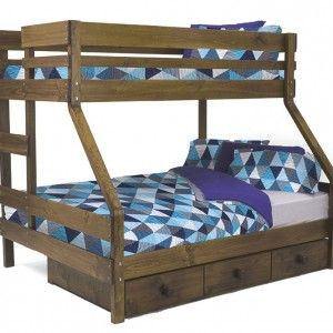 Double Or Queen End Ladder Bunk Bed Bunkers Bunk Beds Cool Bunk Beds Bunk Beds Bunk Bed With Desk