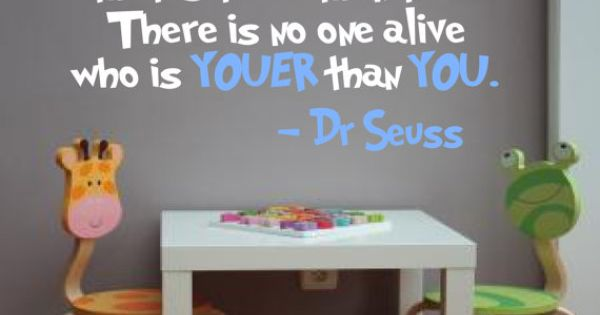 Dr. Seuss saying wall decal for playroom wall