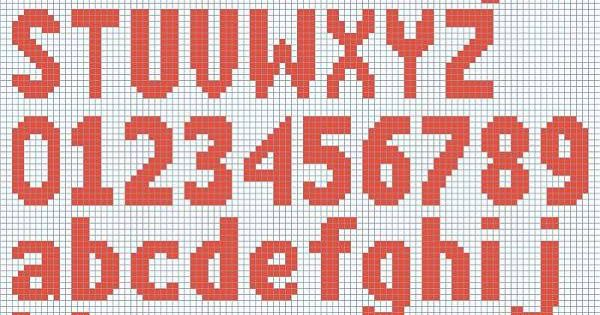 Knitting Pattern Numbers : Free Knitted Alphabet and Numbers chart courtesy of Deborahs Knitting. ...