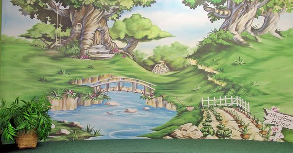 Mural in children 39 s area at valparaiso community library for Community mural ideas