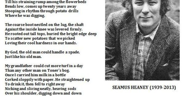 traditions in digging a poem by seamus heaney Commemoration of the life of nobel poet seamus heaney from the irish times, the definitive brand of quality news in ireland.