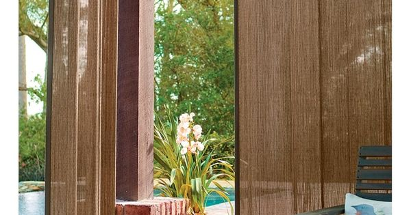 Outdoor bamboo curtain panel 40 w x 63 l collection for Hanging bamboo privacy screen