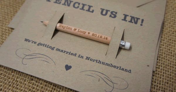 wooden save the date keyring typographic jokes wedding and love