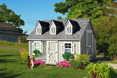 The Cape Cod Dog House Kennel Combination Is For The Owner That