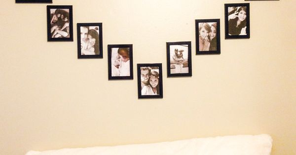 DIY Wall Heart Picture Collage