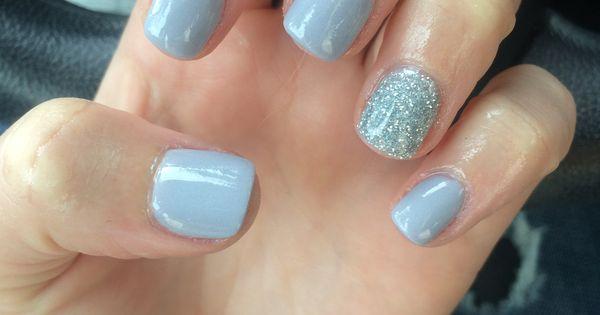 Dreamy Pale Blue Powder Blue And Glitter Silver Sparkle