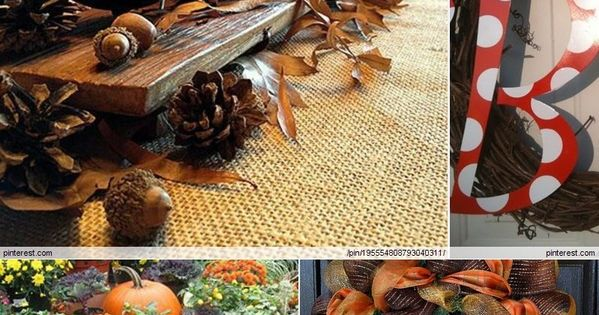 Fall Decorating Ideas. Some really awesome ideas!