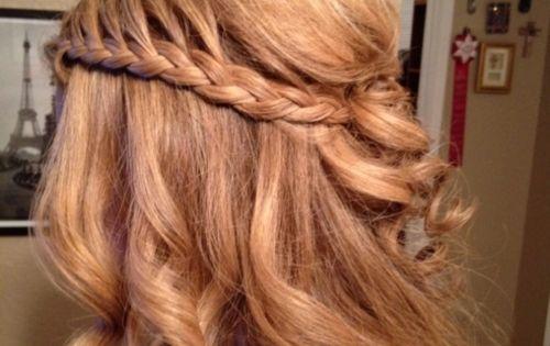 Waterfall braid great wedding hair