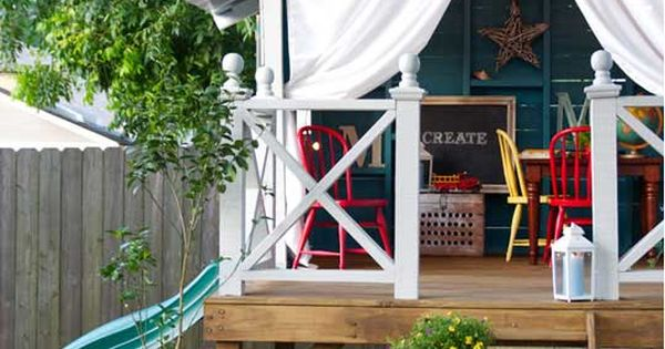 Love this treehouse! This site has a lot of great ideas for