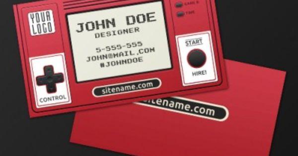 Retro Gaming Business Card Design Free Psd Business Card Psd Retro Business Card Retro Business Card Design